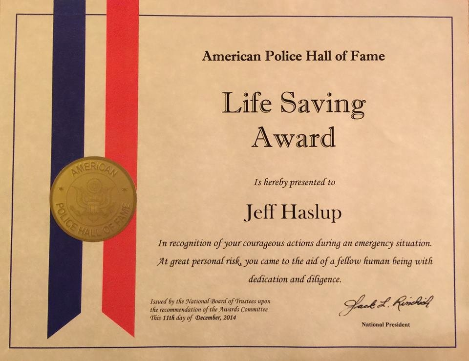 Life Saving Award Template Inspirational Ficer Honored for Saving Man S Life now Habersham
