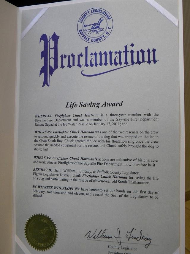 Life Saving Award Wording Luxury Words Of Praise and Thanks for Ice Rescuers Sayville