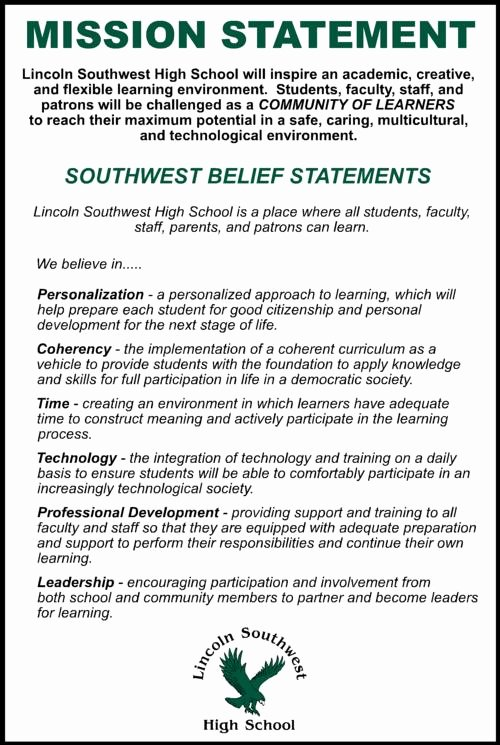 Life Time Mission Statement Fresh southwest High School Mission Statement