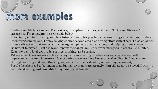 Life Time Mission Statement Lovely Personal Mission Statement
