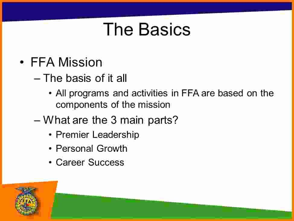 Lifetime athletic Mission Statement Best Of 4 Ffa Mission Statement