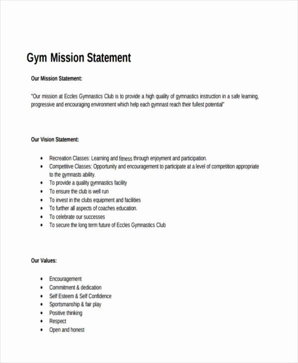 Lifetime athletic Mission Statement Fresh Free 54 Mission Statement Examples & Samples In Pdf