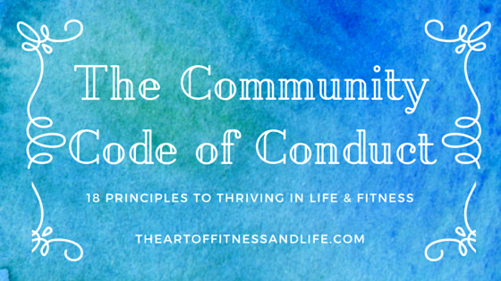 Lifetime Fitness Mission Statement Inspirational the Munity Code Of Conduct You In or Out