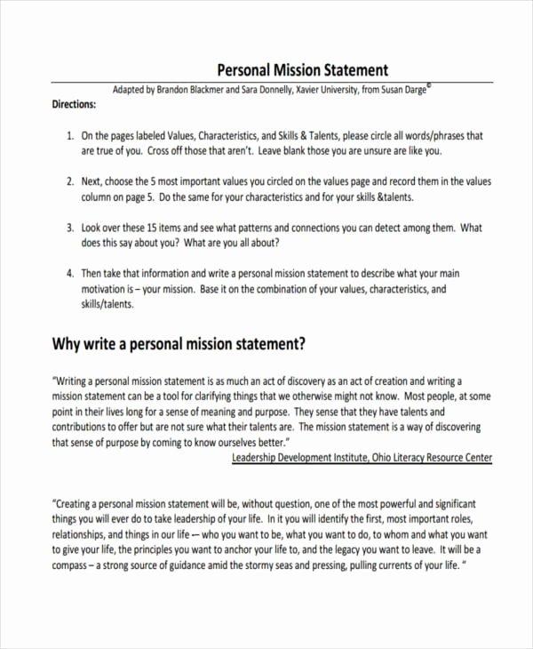 Lifetime Fitness Mission Statement New Free 54 Mission Statement Examples & Samples In Pdf
