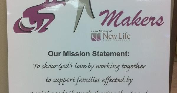 Lifetime Mission Statement Awesome Here is the Mission Statement Of the Disability Ministry