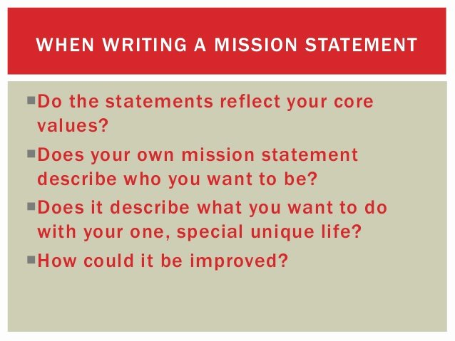 Lifetime Mission Statement Inspirational Identifying Your Values and Personal Mission Statement