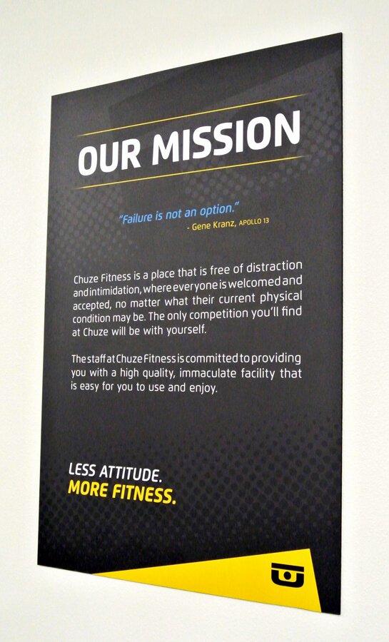 Lifetime Mission Statement Unique Chuze Fitness Mission Statement Wall Poster