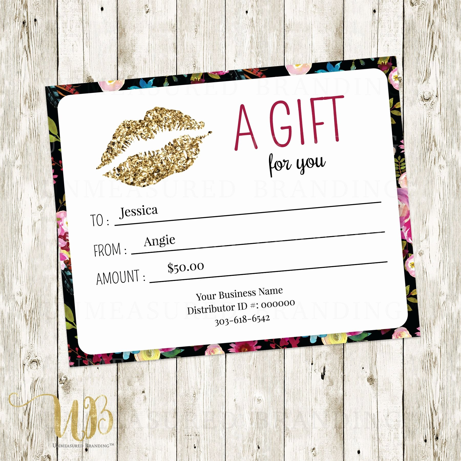 Lipsense Gift Certificate Template Awesome Lipsense Gift Certificate Template Free