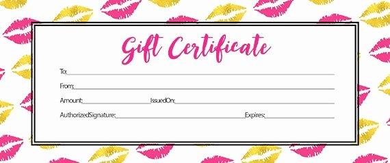 Lipsense Gift Certificate Template Awesome Sengence Custom Personalized Gold Pink Lips Blank