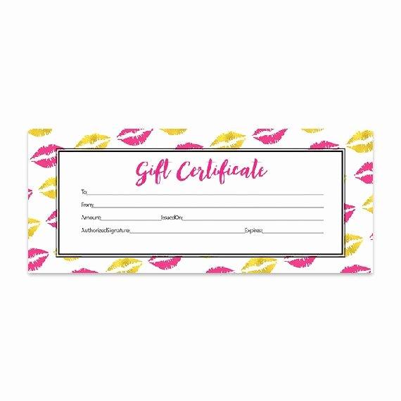 Lipsense Gift Certificate Template Best Of Gold Lips Lips Hot Pink Lipsense Pink Lips Blank Gift