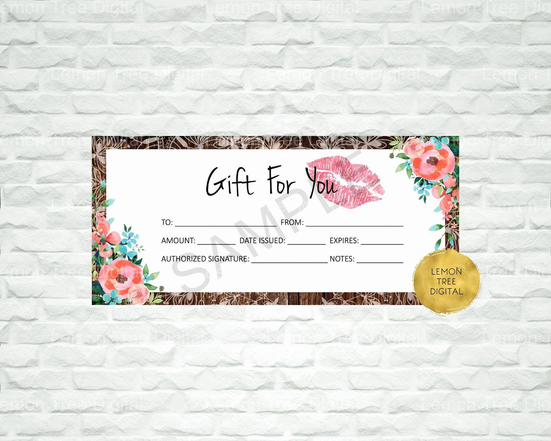 Lipsense Gift Certificate Template Best Of Lipsense T Certificate Lips T Certificates Lipsense