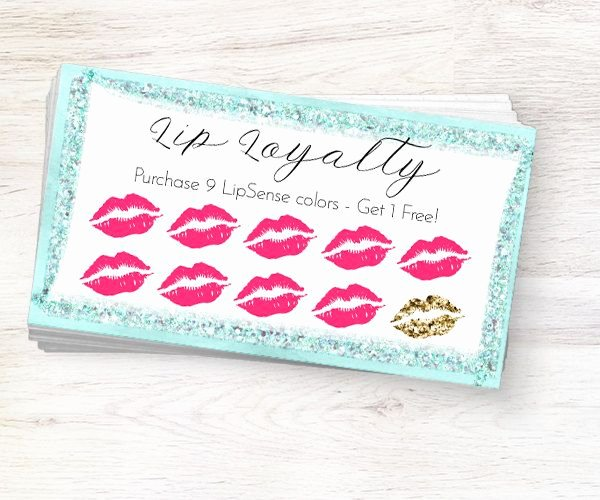 Lipsense Gift Certificate Template Fresh Lipsense Loyalty Card Lip Loyalty Card Lipsense