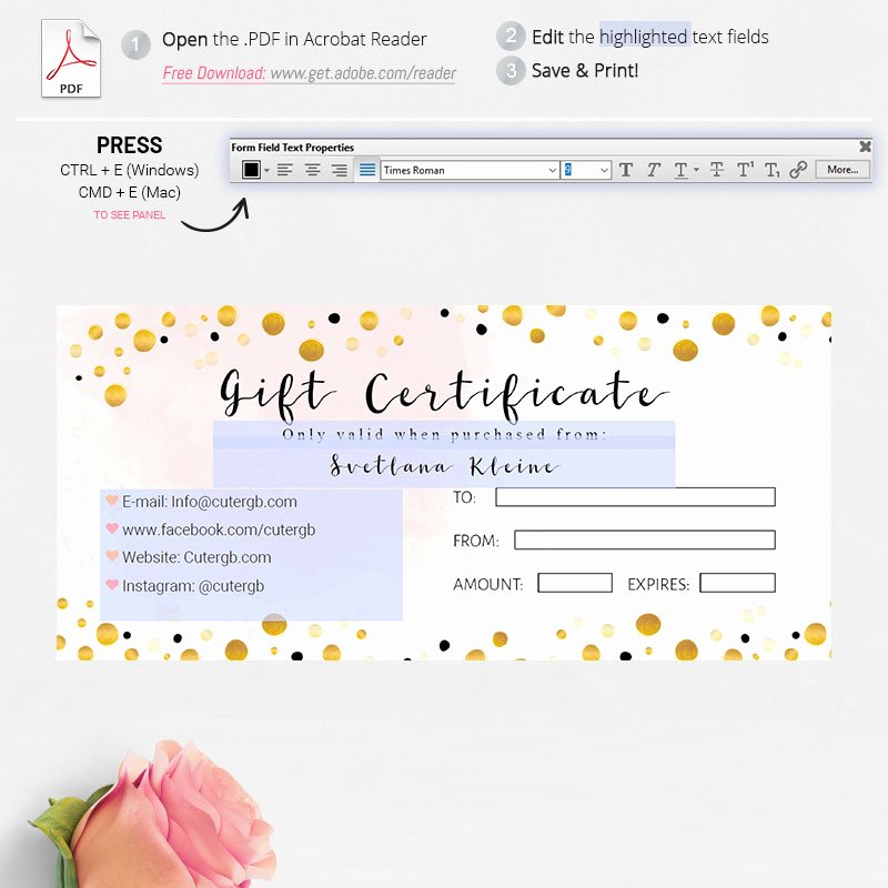 Lipsense Gift Certificate Template Luxury Agnes and Dora Diy Gift Certificate Cutergb Printable