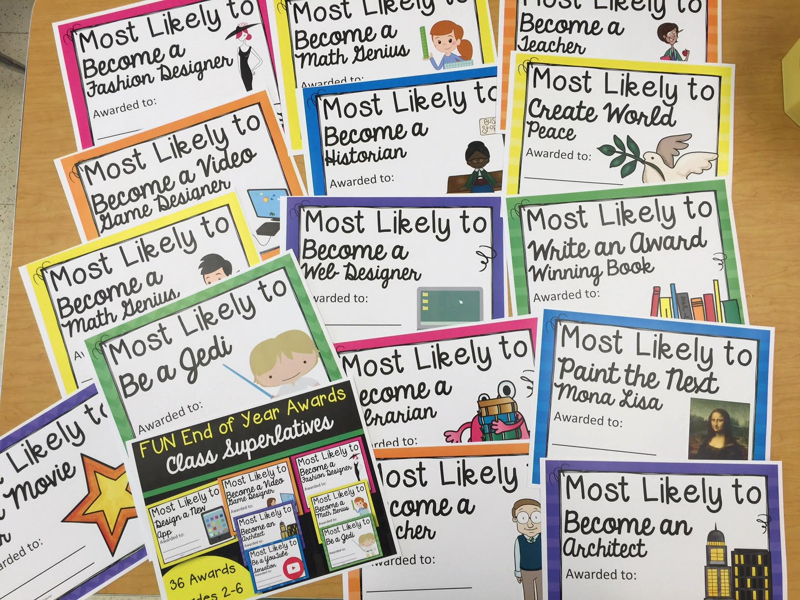 List Of Funny Awards for Students Awesome Fun Class Awards Mr Mault S Marketplace