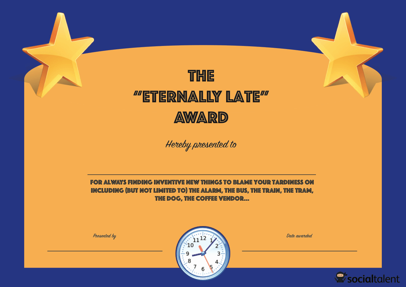 List Of Funny Awards for Students Lovely 20 Hilarious Fice Awards to Embarrass Your Colleagues