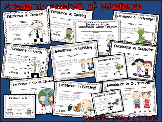 List Of Funny Awards for Students Lovely Academic Awards for Elementary Students Tunstall S
