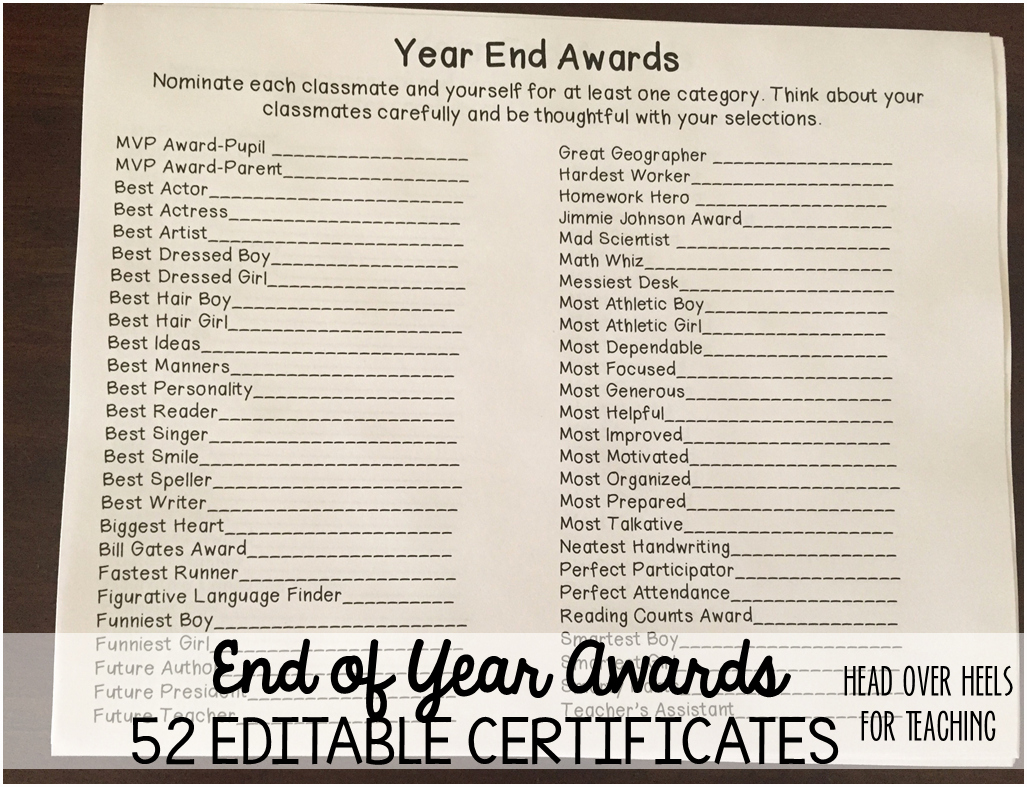 List Of Funny Awards for Students Lovely Head Over Heels for Teaching Spark Student Motivation