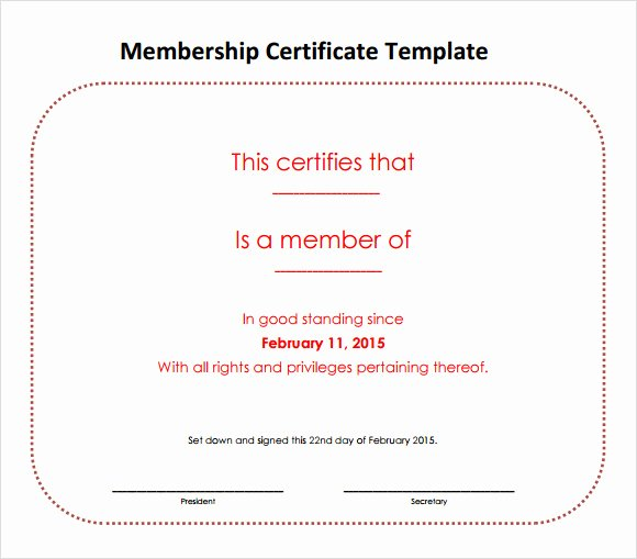 Llc Member Certificate Template Awesome Free 14 Membership Certificate Templates In Samples