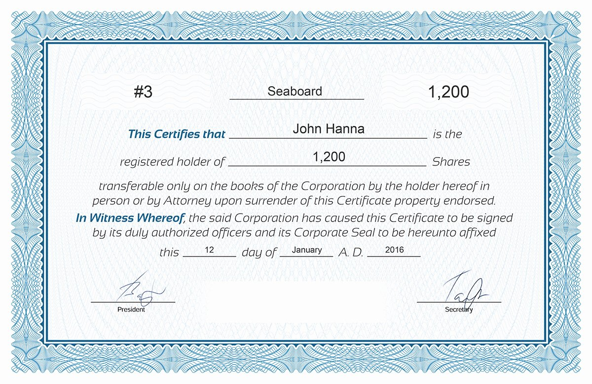 Llc Member Certificate Template Awesome Free Stock Certificate Online Generator