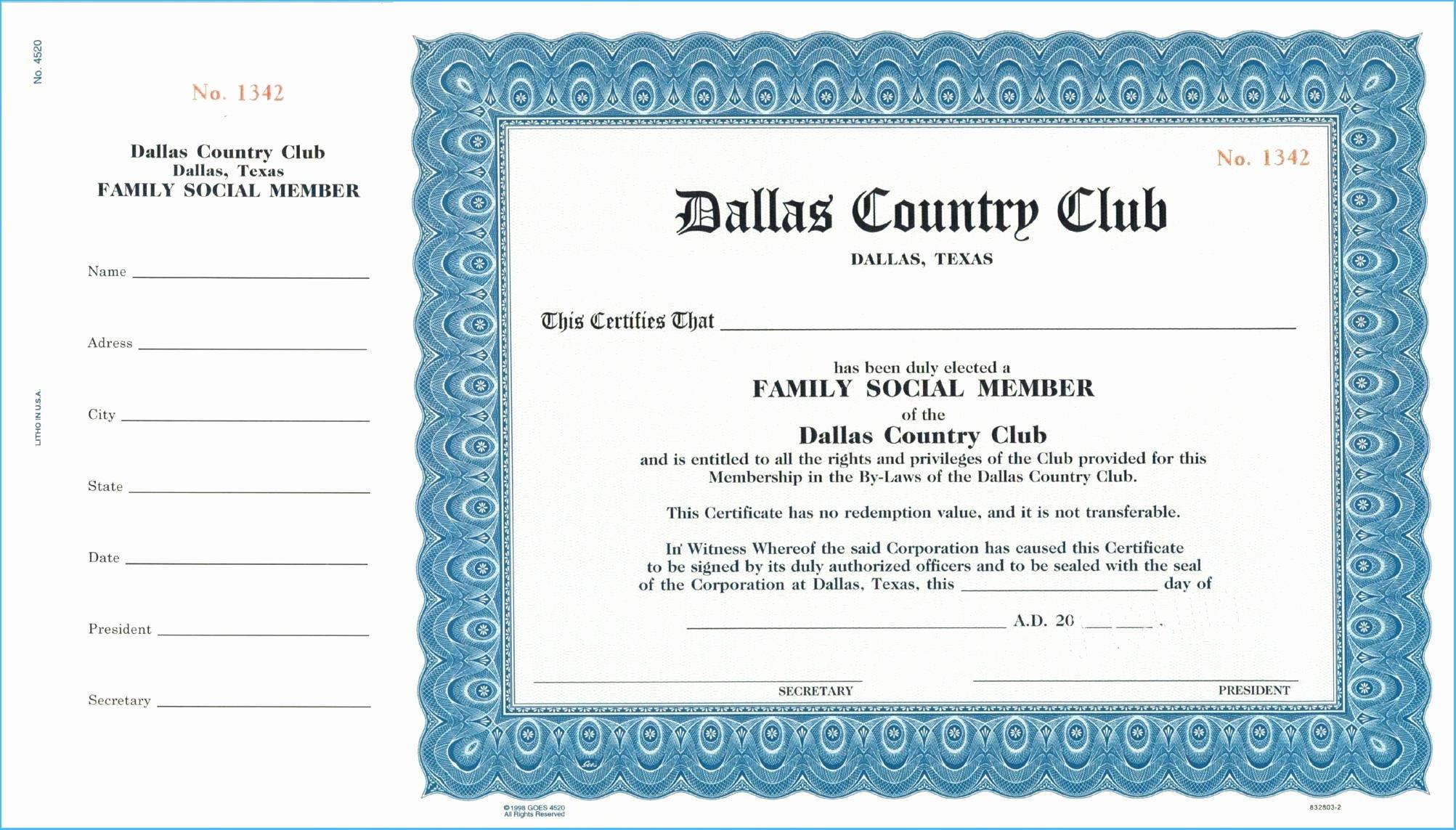 Llc Member Certificate Template Elegant Llc Membership Certificate Template 7061