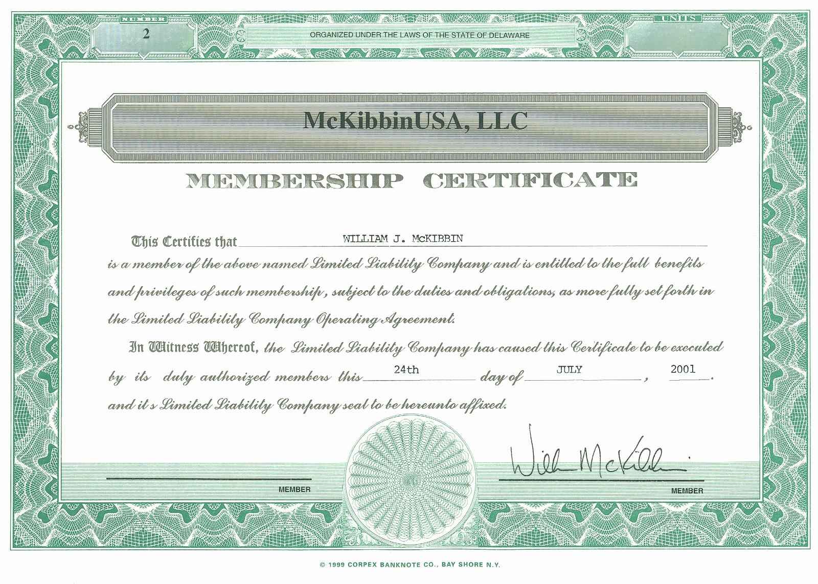 Llc Member Certificate Template Elegant the Vantage Point August 2010