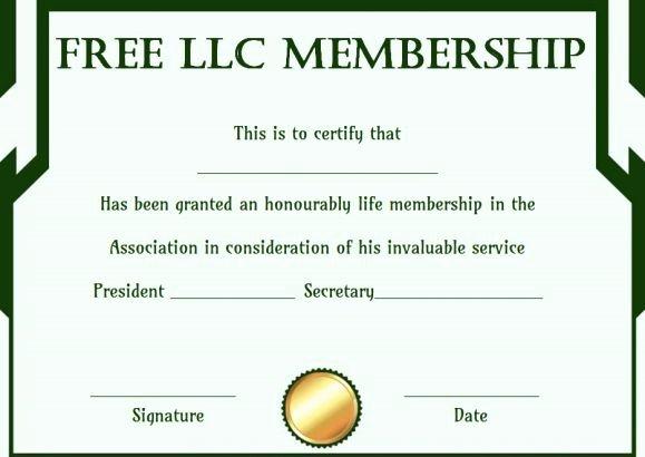 Llc Membership Certificate Template Beautiful Free Llc Membership Certificate Template