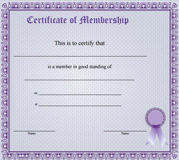 Llc Membership Certificate Template Best Of Free 14 Membership Certificate Templates In Samples