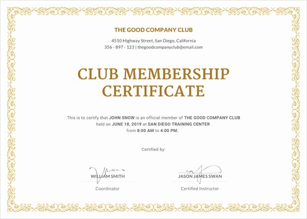 Llc Membership Certificate Template Free Inspirational 23 Membership Certificate Templates Word Psd In