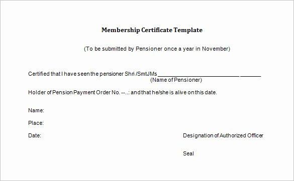 Llc Membership Certificate Template Free Lovely 23 Membership Certificate Templates Word Psd In