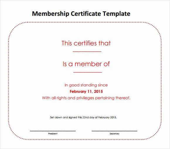 Llc Membership Certificate Template Free New Free 14 Membership Certificate Templates In Samples