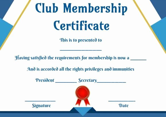 Llc Membership Certificate Template Lovely Free Club Membership Certificate Templates