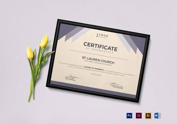 Llc Membership Certificate Template Luxury Free 14 Membership Certificate Templates In Samples