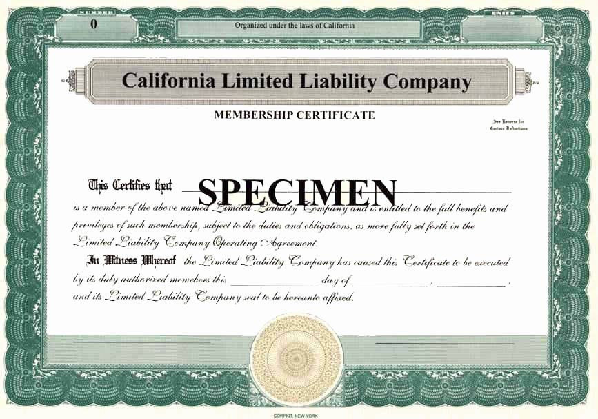 Llc Membership Certificate Template New Free New York State Llc Operating Agreement