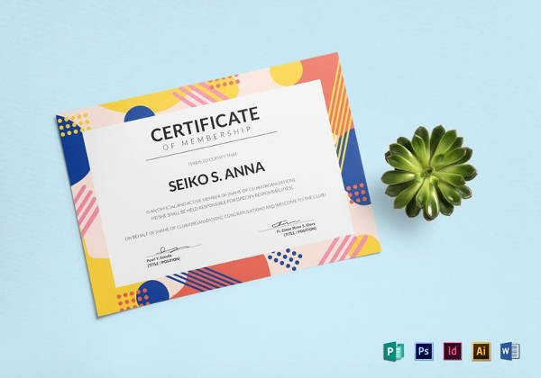Llc Membership Certificate Template Word Inspirational Free 14 Membership Certificate Templates In Samples