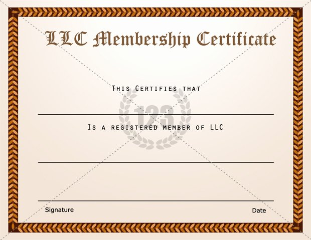 Llc Membership Certificate Template Word Luxury Llc Membership Certificate Template