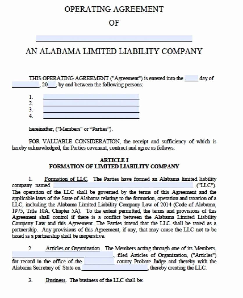 Llc Ownership Transfer Agreement Template Best Of Llc Ownership Agreement Template Simple Free Alabama Llc