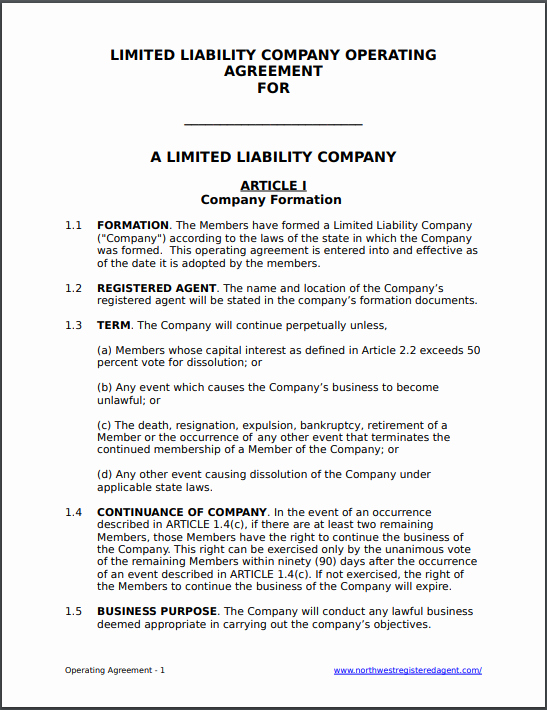 Llc Ownership Transfer Agreement Template New Free Llc Operating Agreement