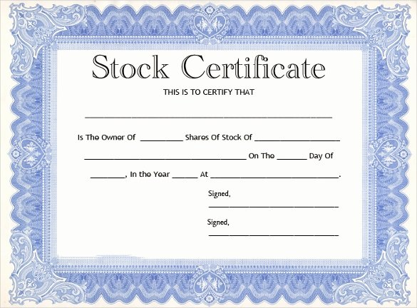 Llc Share Certificate Template Awesome 11 Stock Certificate Templates
