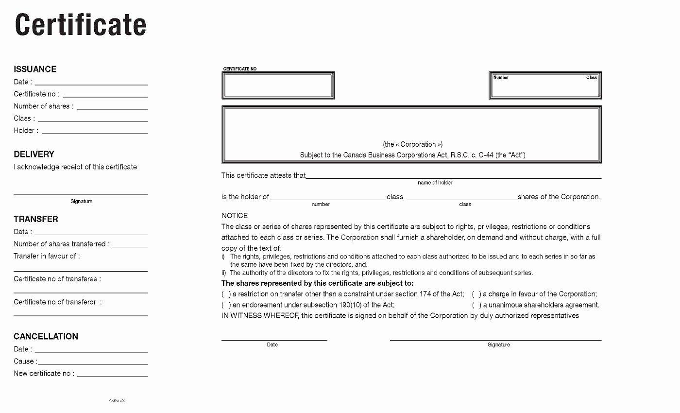 Llc Share Certificate Template Fresh Corporate Accessories Certificate Template Canada
