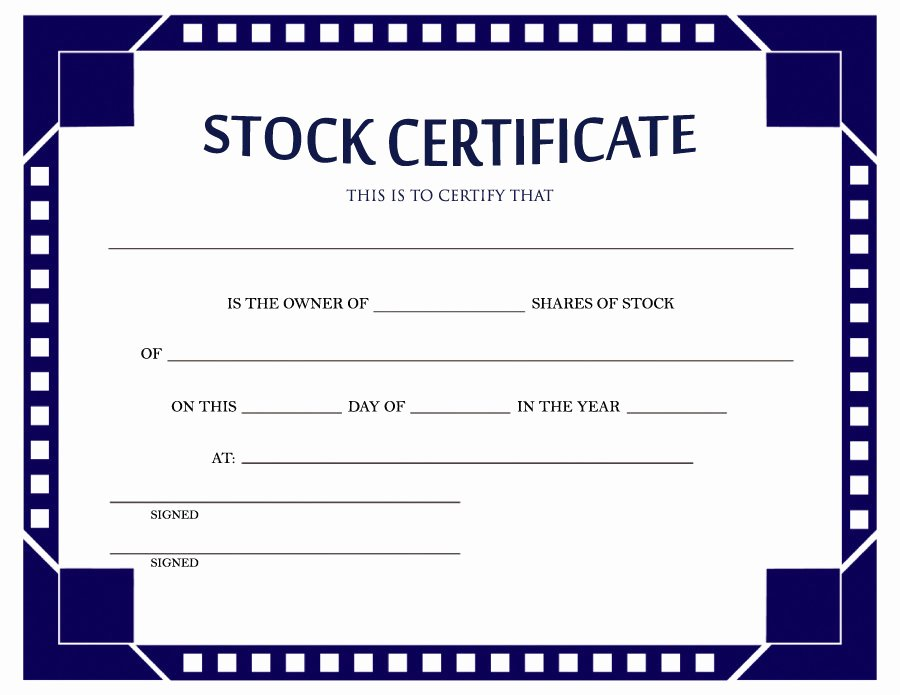 Llc Stock Certificate Template Beautiful 40 Free Stock Certificate Templates Word Pdf