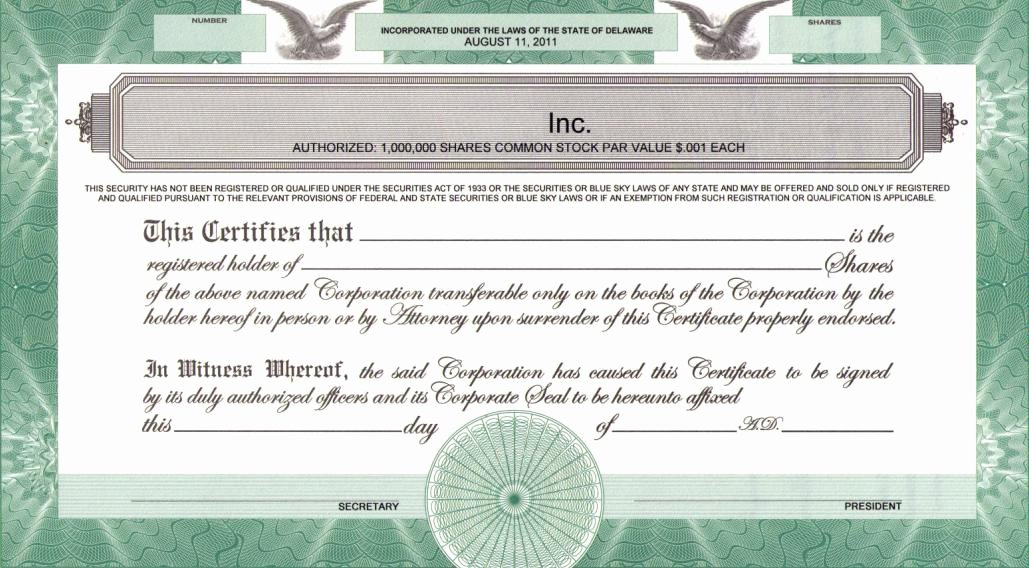 Llc Stock Certificate Template Best Of Printing Legends On Certificates