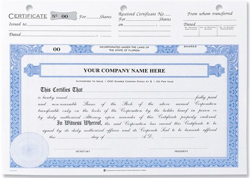 Llc Stock Certificate Template Inspirational Stock Certificates Membership Certificates