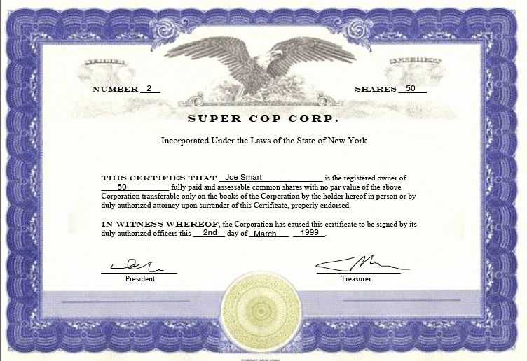 Llc Stock Certificate Template New Evidencing Ownership In A Corporation Nothing Beats A