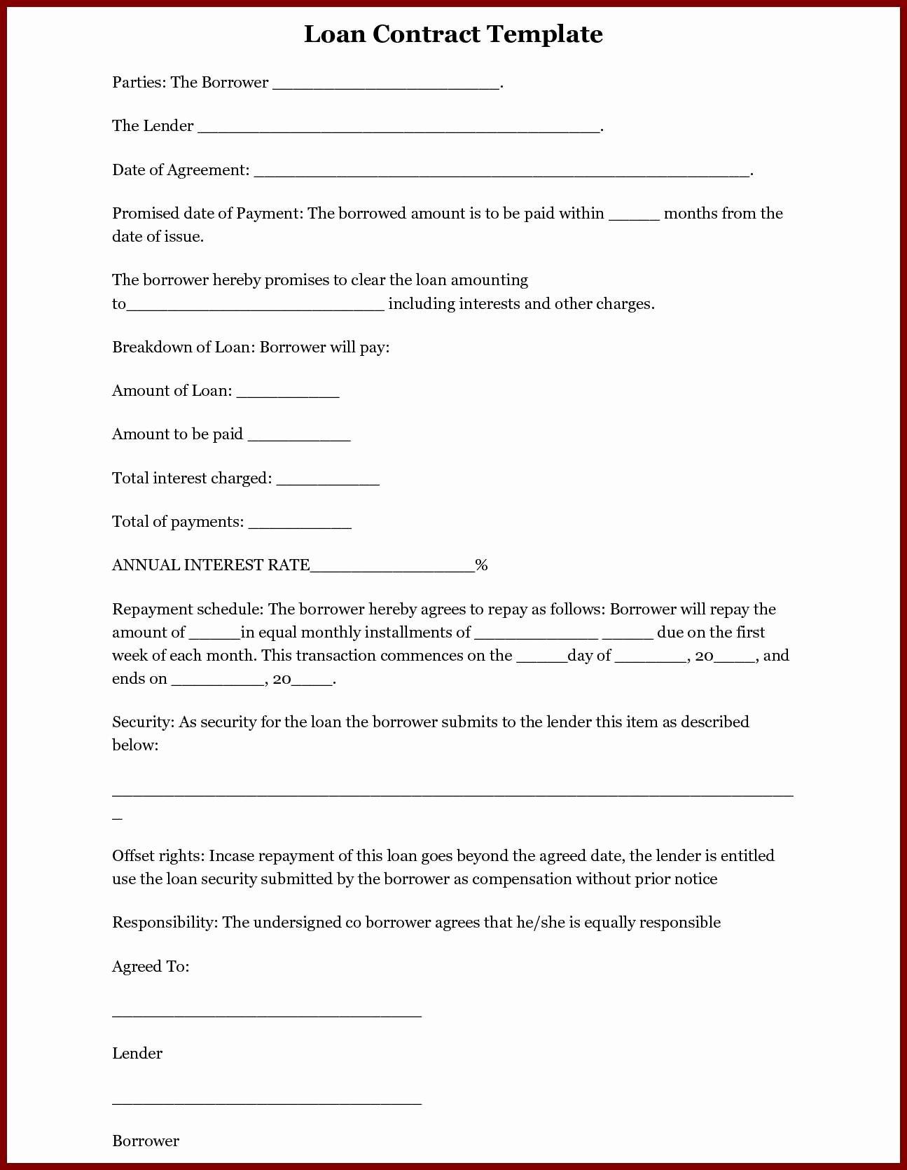 Loan Agreement Between Friends Template Lovely 40 Excellent Loan Agreement Letter Between Friends Wu