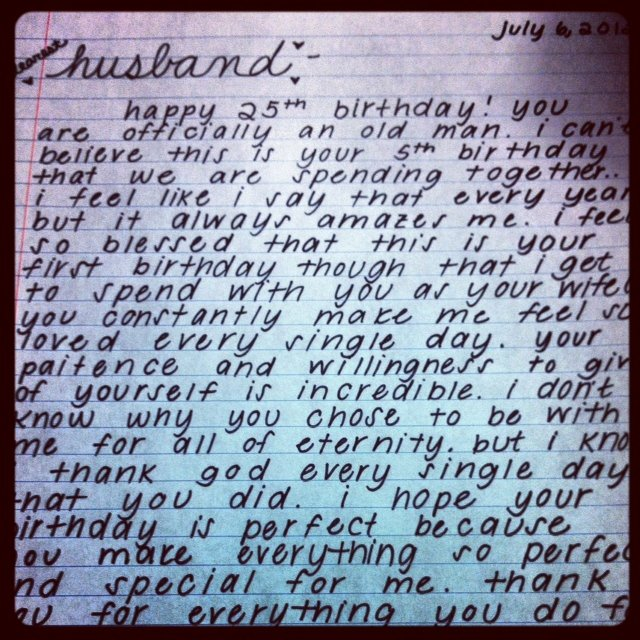 Love Letter to My Husband On His Birthday Awesome Happy Birthday to My Husband Letter