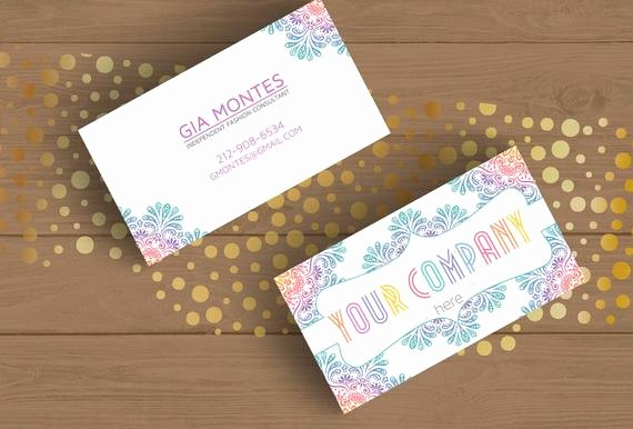 Lularoe Gift Certificate Template Best Of Mandala Business Card Template Layered Psd No 18 Retro by