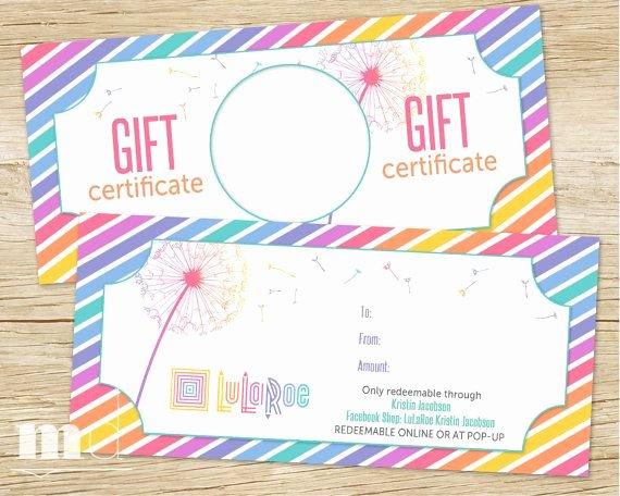 Lularoe Gift Certificate Template Fresh Lularoe Gift Certificate Lularoe Gift Card Best Llr