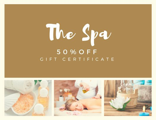 Magazine Subscription Gift Certificate Template Awesome Customize 131 Spa Gift Certificate Templates Online Canva