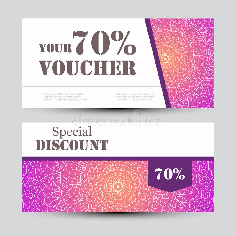 Magazine Subscription Gift Certificate Template Awesome Gift Voucher Template with Mandala Design Certificate for