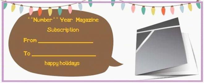 inventive magazine subscription t printable